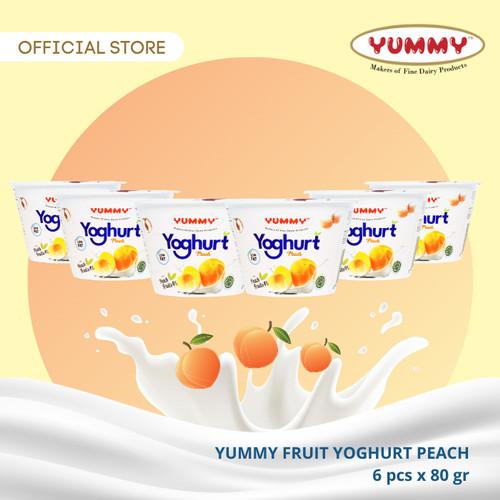 Foto Produk Yummy Fruit Yoghurt Peach 6 x 80g dari YUMMY Dairy