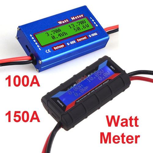 Foto Produk Watt Meter DC 60V 100A Digital LCD Display Lipo Battery Power Analyzer - 150A Hitam dari Rumix