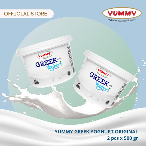 Foto Produk Yummy Greek Yoghurt Original 2 x 500g dari YUMMY Dairy