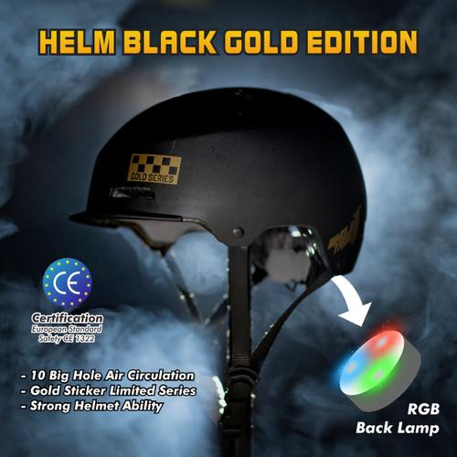 Foto Produk Helm Sepeda Singletrek Black Gold Edition - HSB Black Gold, M dari SINGLETREK OFFICIAL