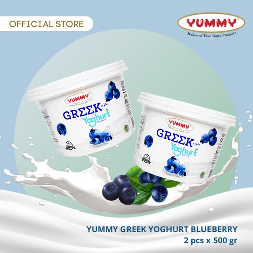 Foto Produk Yummy Greek Yoghurt Blueberry 2 x 500g dari YUMMY Dairy