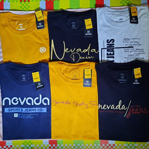 Foto Produk Paket grosir Kaos Nevada ORIGINAL min pembelian 3pcs (paket 3pcs) - Mix Random dari Fashion_Kita07