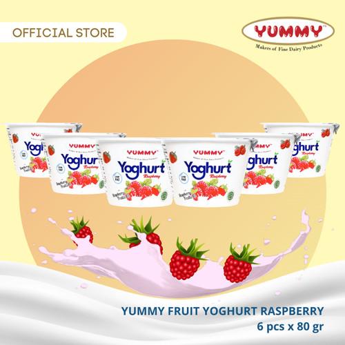 Foto Produk Yummy Fruit Yoghurt Raspberry 6 x 80g dari YUMMY Dairy