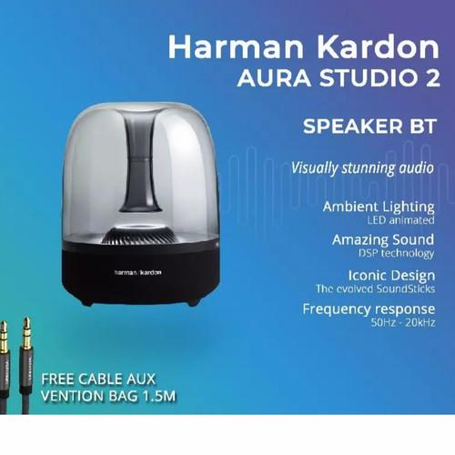 Foto Produk HARMAN KARDON AURA STUDIO 2 - SPEAKER WIRELESS BLUETOOTH | GRS RESMI dari Market Plan