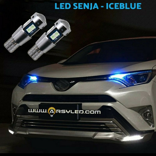 Foto Produk lampu led senja mobil T10 METALIK SILVER - Sigra Calya Avanza Xenia - Biru Muda dari ARSYLED