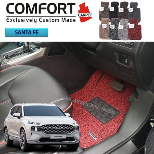 Foto Produk Karpet Comfort Deluxe Khusus Hyundai santa fe 2021 full bagasi dari Boss Aksesoris Mobil
