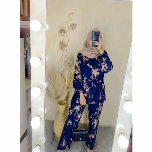 Foto Produk ONESET TIEDYE STELAN RAYON STELAN PANJANG - nevi, All Size dari batik lidiya