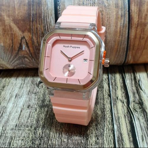 Foto Produk jam tangan wanita hush puppies tanggal aktif 8604 - peach dari Ahokyahop