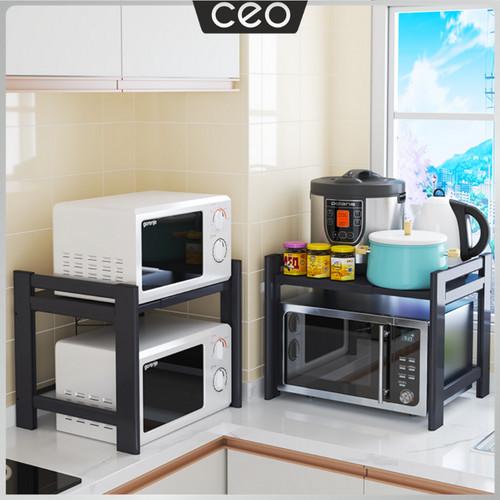 Foto Produk CEO Rak Microwave Teleskopik Rak Microwave 1& 2 Tingkat Adjustable - 1 Tingkat dari CEO Official Store