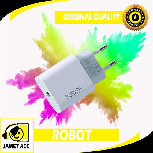 Foto Produk Robot RT-K8 2A 10W Small & Portable Power Charger (Per 1Pcs) - Putih dari Jamet Acc