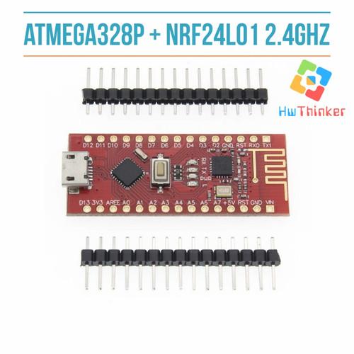 Foto Produk Nano rf V3.0 ATmega328P + NRF24l01 2.4G kompatibel Arduino Nano V3 dari hwthinker