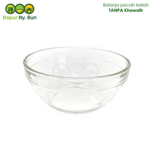 Foto Produk 1 Mangkok Saji Kaca Bening Polos Ukuran 5,5 Inch/Mangkuk Sayur Kecil dari Dapur Ny.Bun