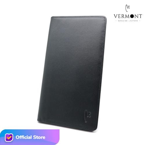Foto Produk Dompet Panjang Kulit Asli Branded VERMONT V83 - L004 Original Leather - Black Nappa dari VERMONT LEATHER