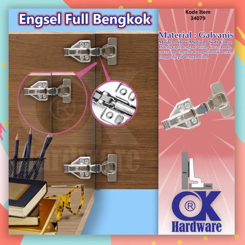 Foto Produk Engsel Sendok OSM Full Bengkok OK Hardware Hydraulic Slow Motion dari WINSTON-OK OFFICIAL STORE