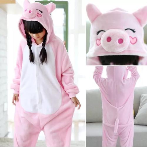 Foto Produk BAJU ONESIE BONEKA PIG PIGGY BABI ANAK PIYAMA KOSTUM - 120CM dari Republik Boneka