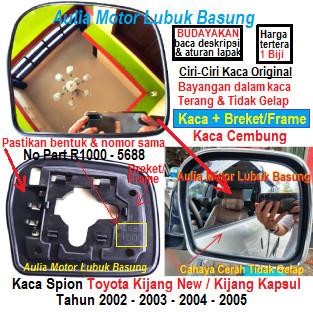 Foto Produk kaca spion toyota kijang new, kapsul 2002 -2003 original sebelah kanan dari Aulia Motor Lubuk Basung