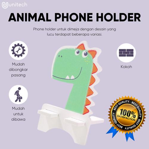 Foto Produk Phone Holder Hp Motif Animal Dudukan Holder Hape Tablet Universal - Dino dari TokoUsbcom