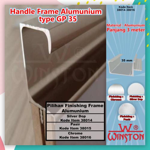 Foto Produk Frame Edging Handle Pintu Panel GP 35 Alumunium Chrome Sand DOP GP35 - BLACK dari WINSTON-OK OFFICIAL STORE