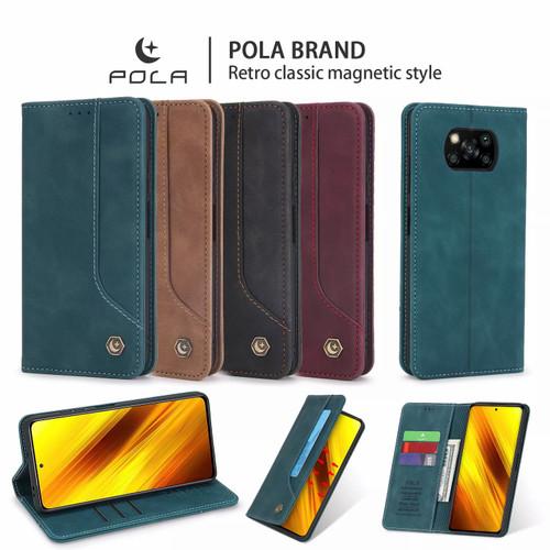 Foto Produk Xiaomi Poco X3 / X3 NFC Flip Wallet Leather Case Cover Sarung Dompet - maron dari Vinvend ACC