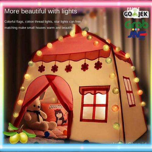 Foto Produk Tenda Anak Serbaguna / Tenda Bermain Anak Free lampu Led - Biru dari Olive Tree