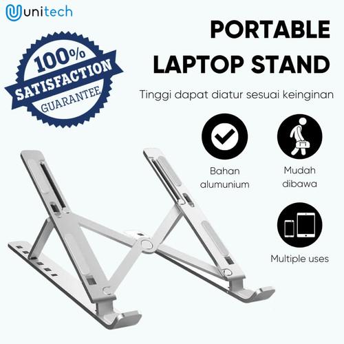 Foto Produk Portable Laptop Stand Bahan Aluminium Dudukan Laptop Model Lipat Stand dari TokoUsbcom