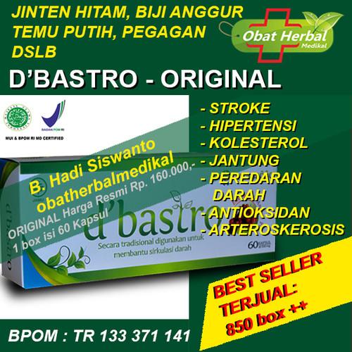 Foto Produk Obat Herbal Jantung, Stroke, Kolesterol, Hipertensi D'Bastro 60 Kpasul dari Obatherbalmedikal
