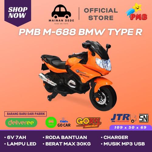Foto Produk Mainan Motor Aki PMB Type R M 688 BMW - Orange dari Mainan Anak Dede