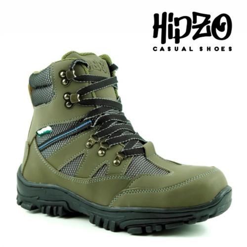Foto Produk Sepatu Hipzo Pria Hingking Sepatu Original Safety Sepatu Kerja Boots - Army, 39 dari Hipzo Official Shop