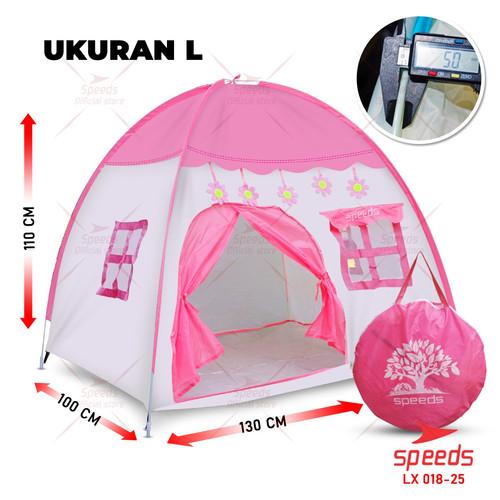 Foto Produk Tenda Anak Bermain SPEEDS Model Rumah Kids Camping Indoor 018-25 - PINK L dari Speeds Official Store