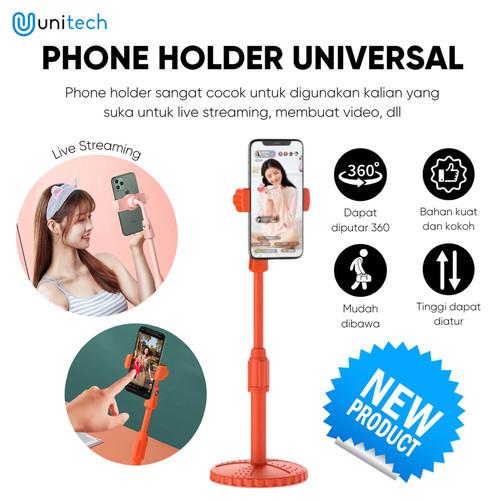Foto Produk Holder Stand Hp Universal Unitech YN222 Tripod Hape untuk Live Stream - Orange dari TokoUsbcom