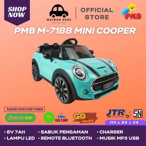 Foto Produk KHUSUS GOJEK Mainan Anak Mobil Aki PMB 7188 Mini Cooper Mortein M-7188 - Hijau ( Tosca ) dari Mainan Anak Dede