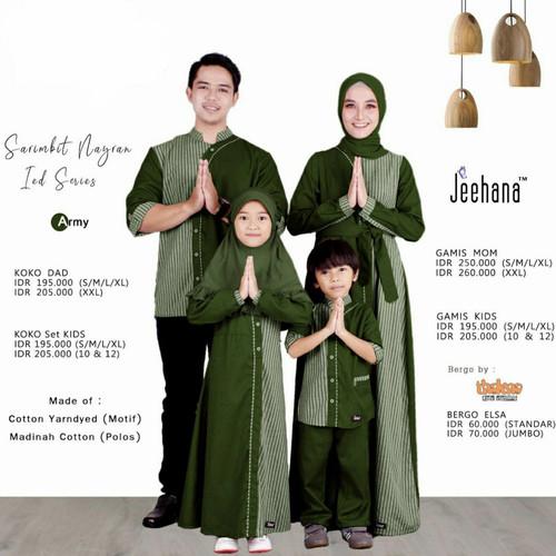 Foto Produk Baju Sarimbit Couple Keluarga Muslim Family Set Lebaran Nayran Jhn - Koko Ayah S-XL dari Raihah Online Shop