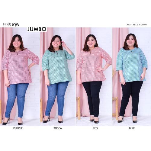 Foto Produk Blouse Batik Super Jumbo 445 Bigsize Baju Atasan Wanita Big Size vol18 dari Paphika