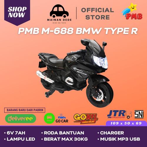 Foto Produk Mainan Motor Aki PMB Type R M 688 BMW - Hitam dari Mainan Anak Dede
