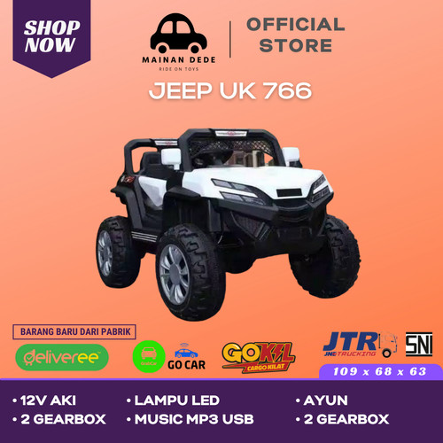 Foto Produk Mainan Mobil Aki Jeep Unikid UK 766 - Putih dari Mainan Anak Dede