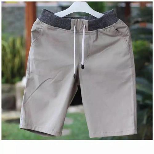 Foto Produk Celana pendek Pria Chino Dewasa Rip Karet Melar - crem, 32 dari Batik Ls