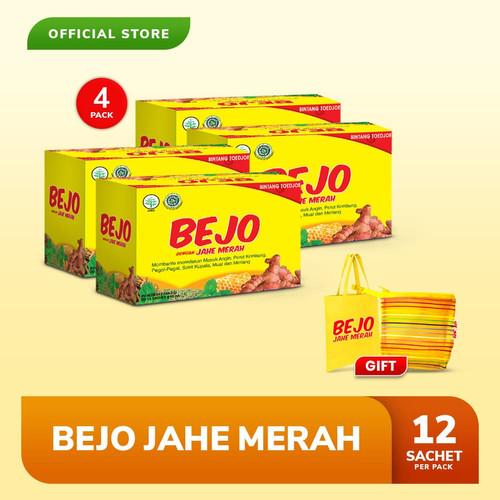Foto Produk Bejo Jahe Merah Sachet 4 Pack (48 Sachet) FREE Pouch + Tote Bag dari Bintang Toedjoe Official