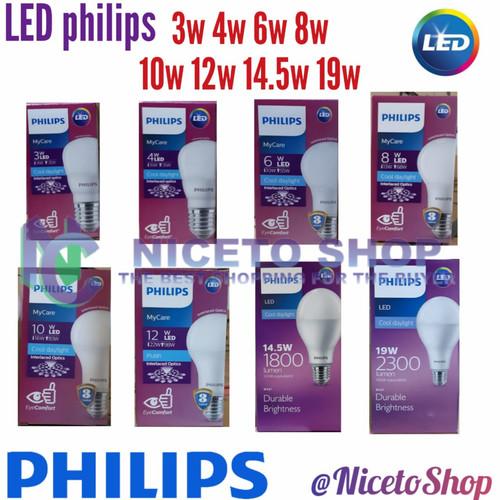 Foto Produk Lampu Led Philips 3w/4w/6w/8w/10w/14.5w/19w - 3W dari Niceto shop