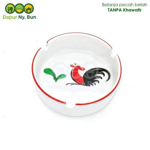 Foto Produk Asbak Keramik Motif Ayam Jago Seri 2 dari Dapur Ny.Bun