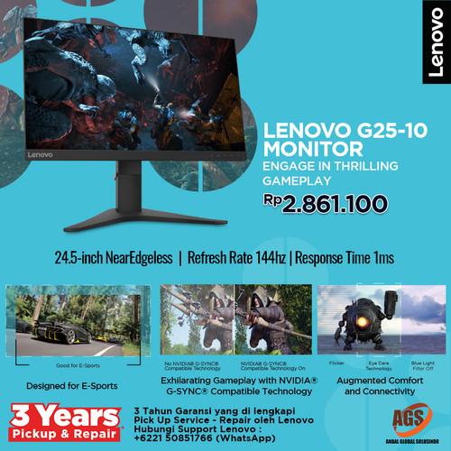 """Foto Produk Lenovo Monitor Gaming G25-10 24.5"""" dari Myclub"""