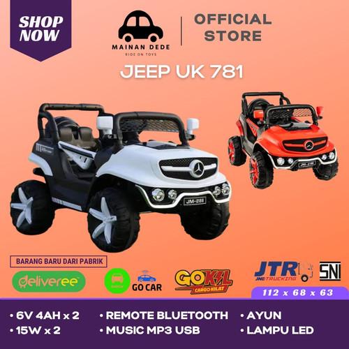 Foto Produk Mainan Mobil Aki Jeep Unikid UK 781 Mini Unimog - Merah dari Mainan Anak Dede