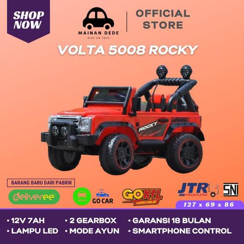 Foto Produk Mainan Mobil Aki SHP Volta Jeep Rocky 5008 GARANSI 18 BULAN - Merah dari Mainan Anak Dede