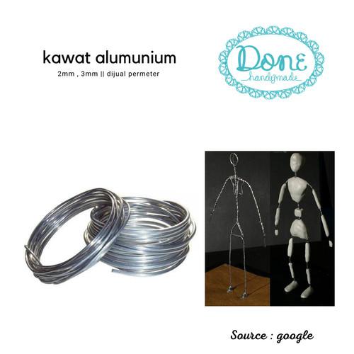 Foto Produk Kawat alumunium kawat kerajinan tangan doll kawat alumunium wire - Diameter 2mm, Potong permeter dari done handymade