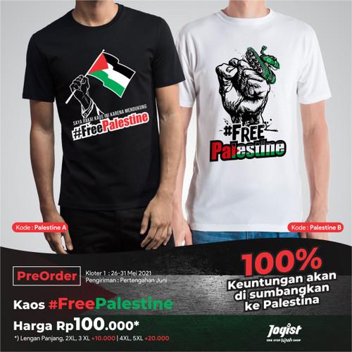 Foto Produk Kaos Free Palestine Jogist - L, Hitam dari JOGISTore