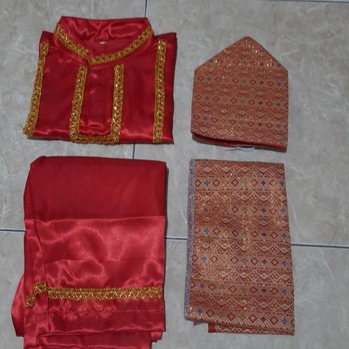 Foto Produk baju adat anak palembang sumatera selatan laki L - Merah, M dari toko mujur dhowie