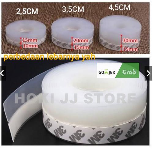 Foto Produk Door seal Perekat Original 3M Penutup Lubang Celah Pintu Jendela - bening polos, LEBAR 2,5 CM dari HOKI JJ STORE