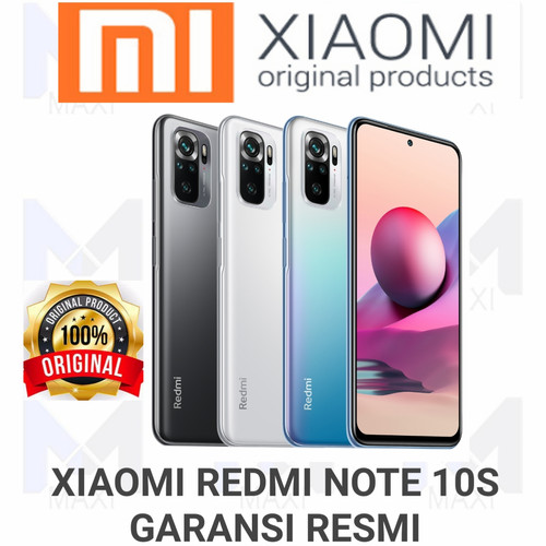 Foto Produk Xiaomi Redmi Note 10S 6/64 Ram 6GB Rom 64GB Garansi Resmi - ONYX GRAY dari Maxi phone cell