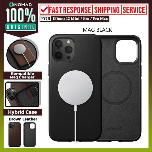 Foto Produk Case iPhone 12 Pro Max 12 Pro Mini Nomad Rugged Premium Leather Casing - 12 Pro Max, MagSafe Black dari Nomad Official