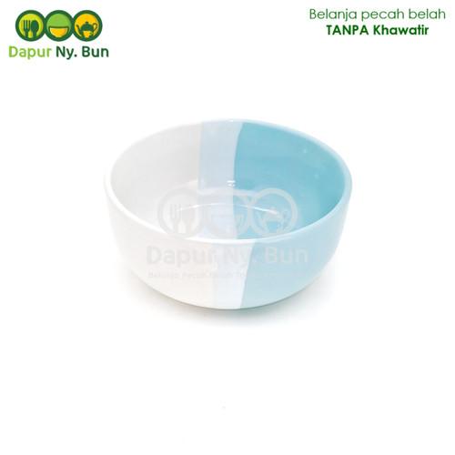 Foto Produk Mangkok Bulat 2 Warna / Mangkok Two Tone / Ukuran 14cm - Biru Muda dari Dapur Ny.Bun