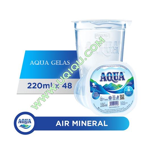 Foto Produk Aqua Gelas 220 ml 1 Dus (48 Gelas) dari Toko Uqiqu